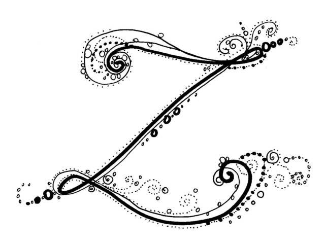 Fancy Letter Designs Az for Pinterest