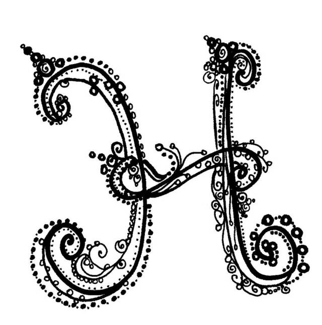 fancy letter h d...H Letter Design