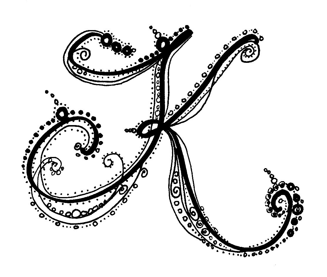 Letter K on Pinterest | Drop Cap, Calligraphy Alphabet and ...